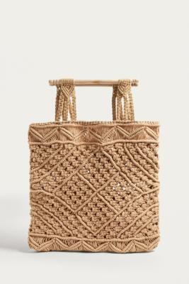 LF Markey - LF Markey Natural Macrame Bag, White