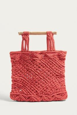 LF Markey - LF Markey Red Macrame Bag, Red