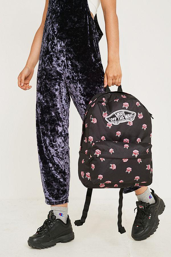 7dce4cdd2eb3 Vans - Sac à dos Realm noir motif roses   Urban Outfitters FR
