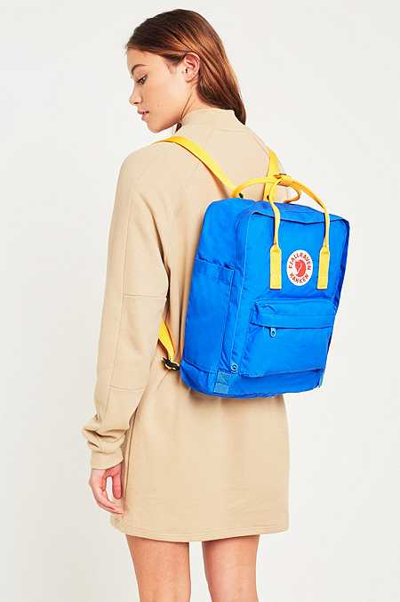 Fjallraven Kanken Un-Blue and Warm Yellow Backpack