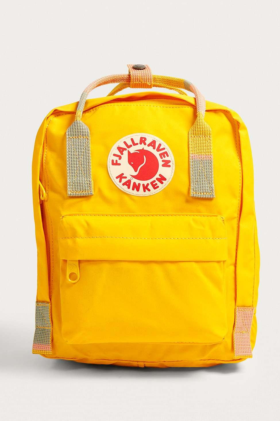 Fjallraven Mini Kanken Warm Yellow Random Blocked Backpack