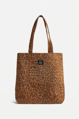 UO Corduroy Animal Print Tote Bag - Brown ALL at Urban Outfitters