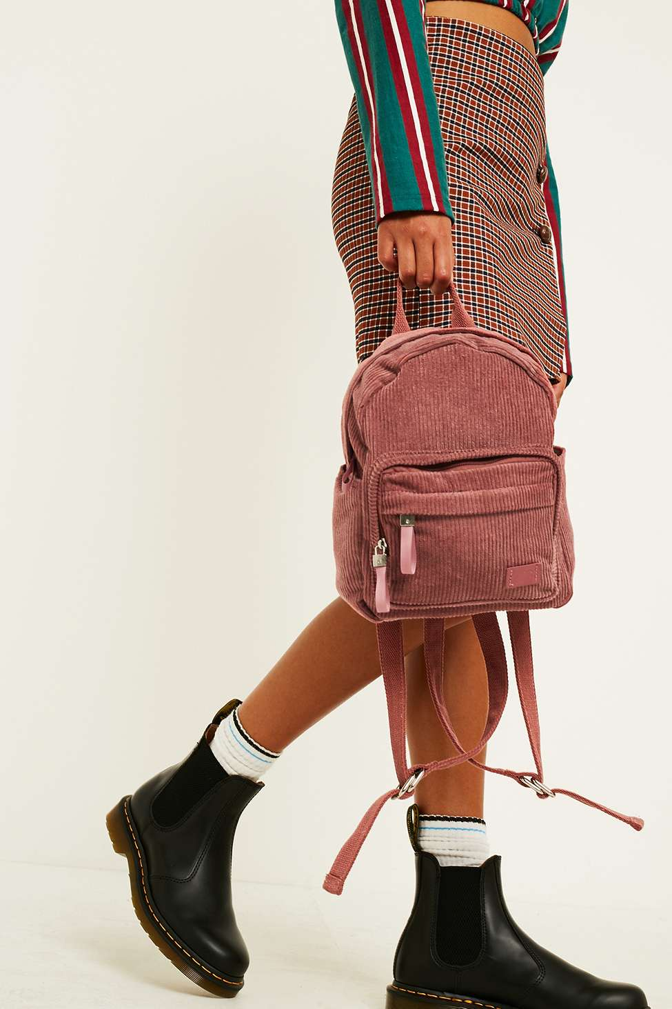 BDG Mini Corduroy Backpack, Pink