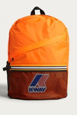 K-way - K-Way Orange Packable Backpack, Orange