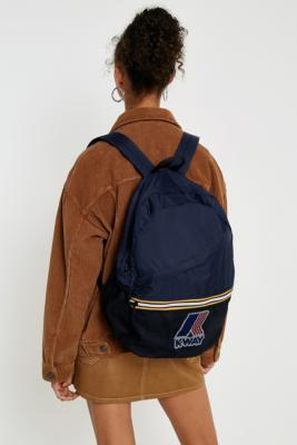 K-way - K-Way Navy Blue Packable Backpack, Navy