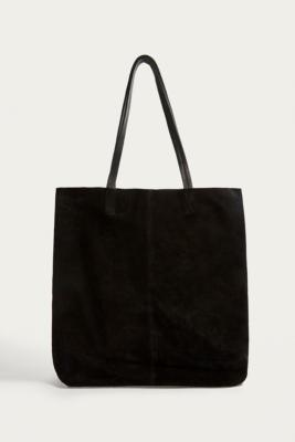 Urban Outfitters - UO Black Suede Tote Bag, Black