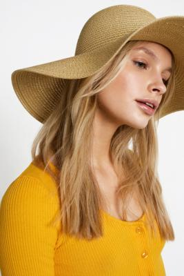 Urban Outfitters - Festival Straw Floppy Hat, Brown
