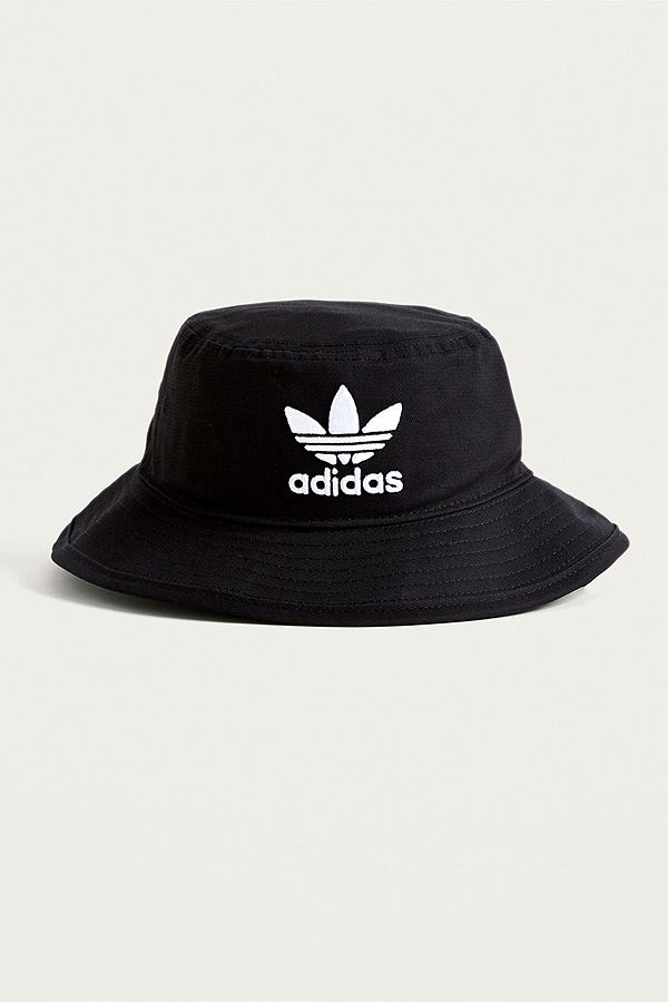 adidas Originals Black Trefoil Bucket Hat  a8f90c9564c