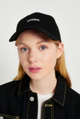 Urban Outfitters - UO Embroidered Slogan Cap, Black