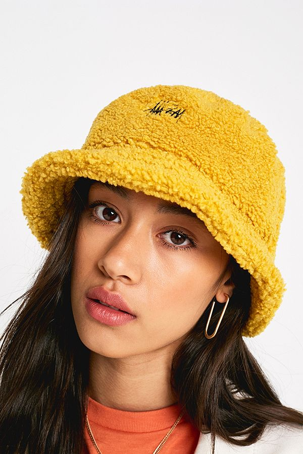 Slide View  1  Stussy Sherpa Fleece Bucket Hat 8670285539d
