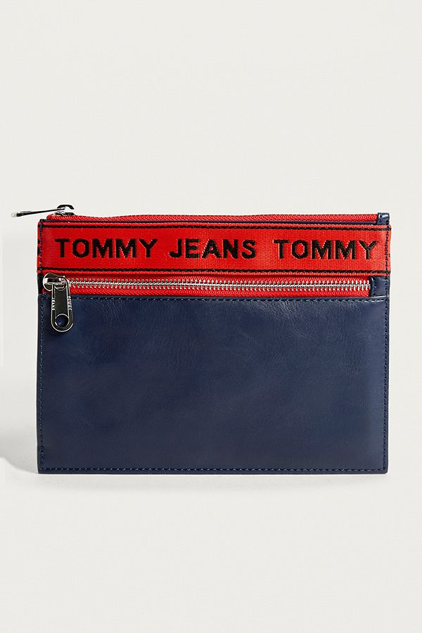 Tommy Jeans Navy Logo Tape Pouch   Urban Outfitters UK 20d771f596