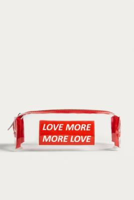 Urban Outfitters - UO Love More, More Love Clear Pencil Case, Clear