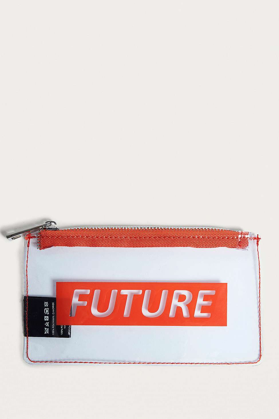 Future Clear Zipper Pouch, Clear