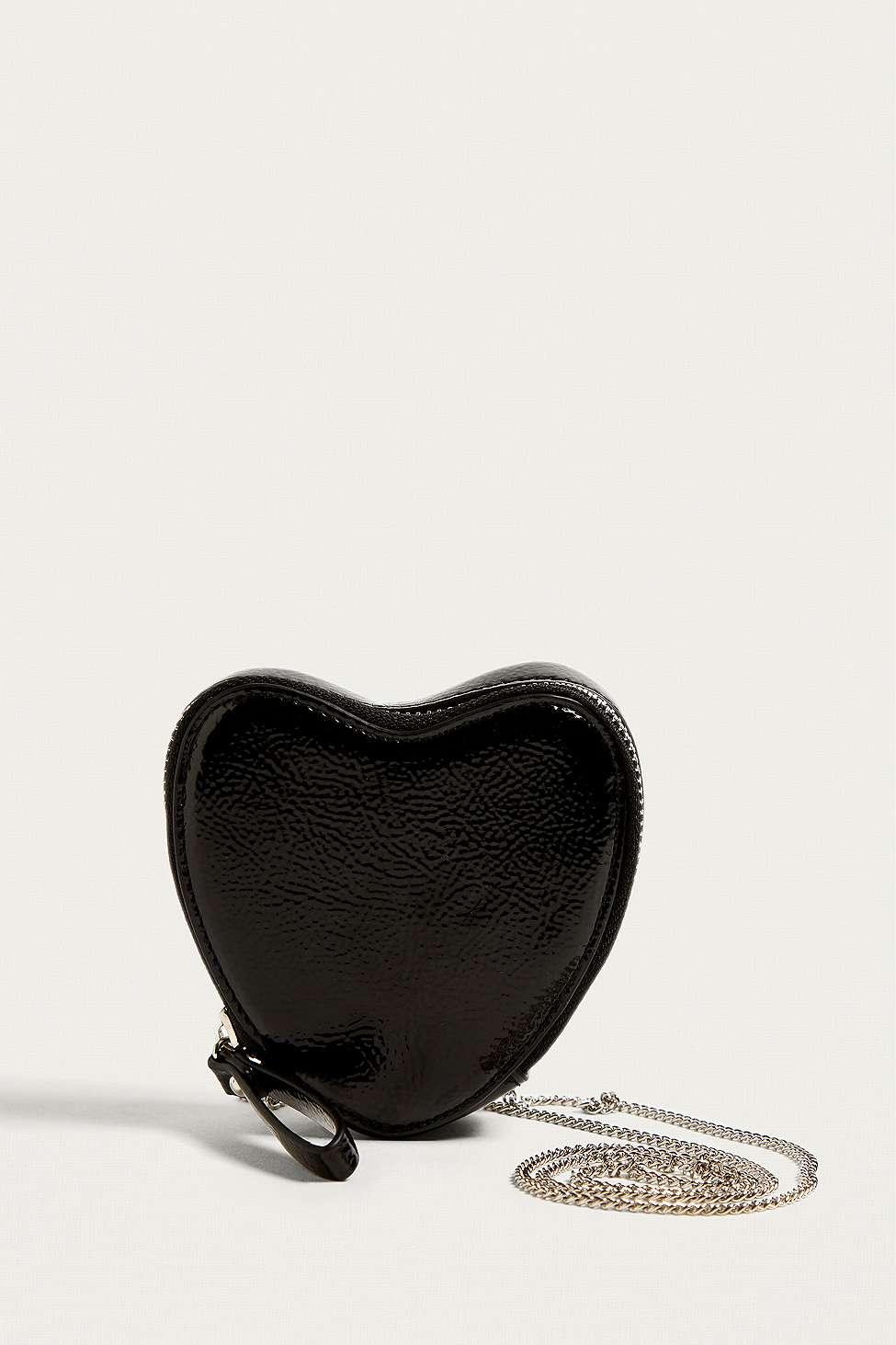 Rachel Icon Heart Crossbody, Black