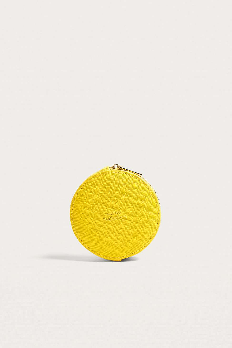 Estella Bartlett Happy Thoughts Yellow Circle Coin Purse, Yellow