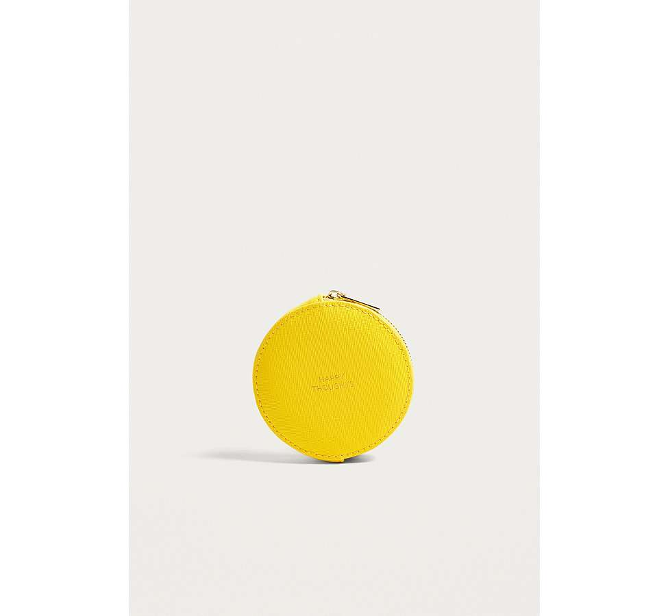 Slide View: 1: Estella Bartlett Happy Thoughts Yellow Circle Coin Purse