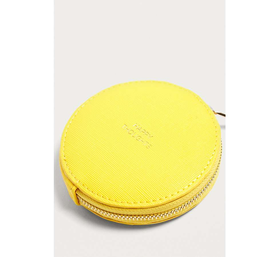 Slide View: 2: Estella Bartlett Happy Thoughts Yellow Circle Coin Purse