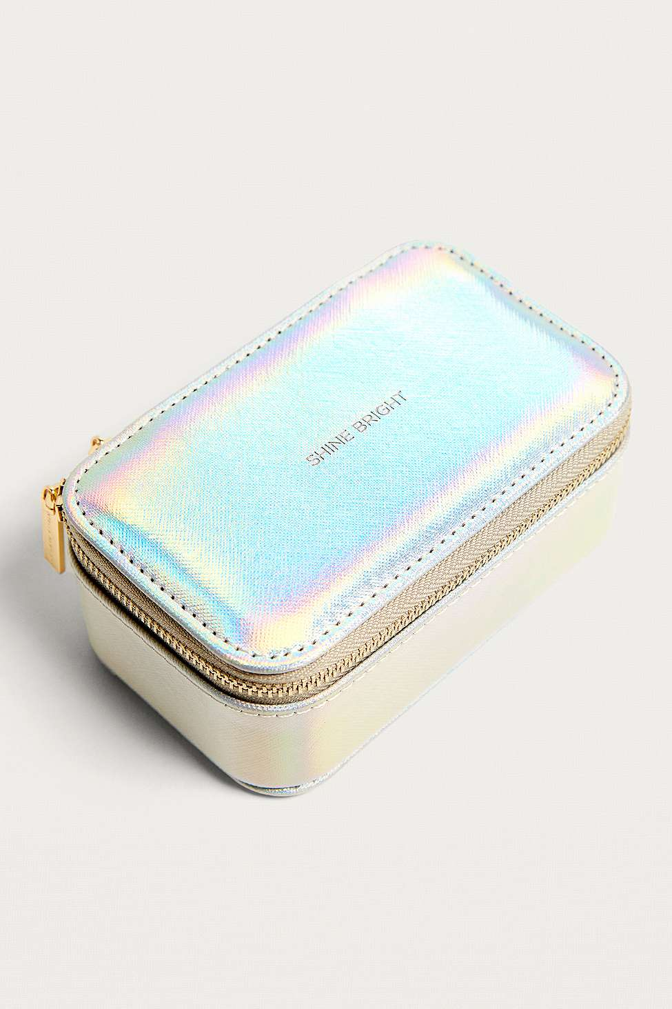 Estella Bartlett Shine Bright Iridescent Jewellery Travelling Case, Silver