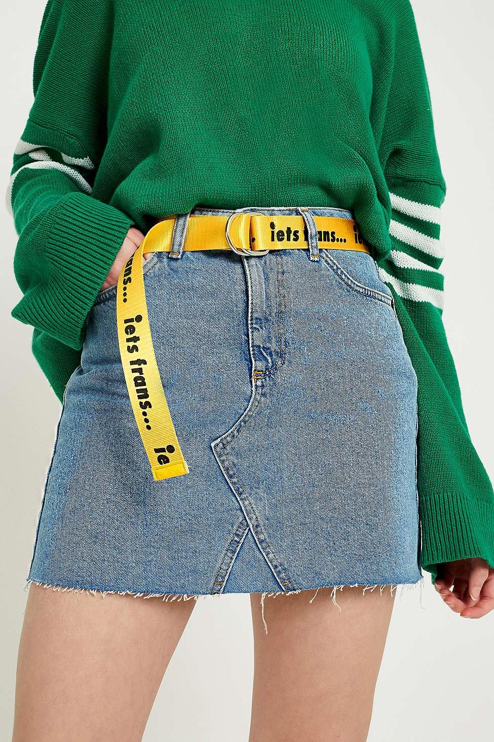 iets frans…  Slogan D-Ring Belt, Yellow