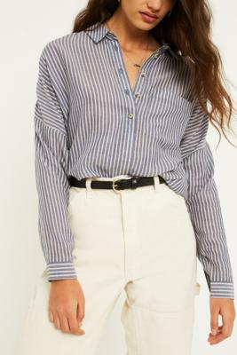 Urban Outfitters - Skinny Leather Boyfriend Belt, black