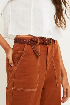 Urban Outfitters - Plaited Leather Belt, brown