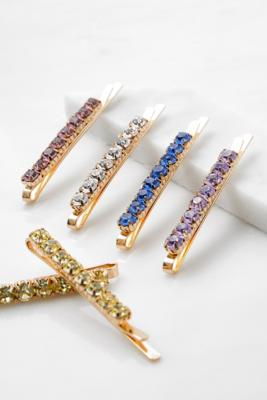 Barrettes à cheveux en faux diamants colorés - Urban Outfitters - Modalova