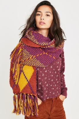 Argyle Knit Scarf by Urban Outfitters