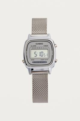 Casio Silver Mesh Band Watch by Casio
