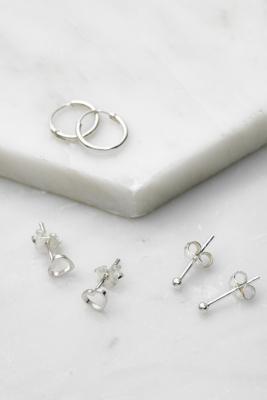 Lot de\u00a03 boucles d'oreilles simples en massif - Urban Outfitters - Modalova