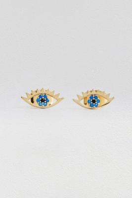 Estella Bartlett Eye Gold Plate Stud Earrings by Estella Bartlett