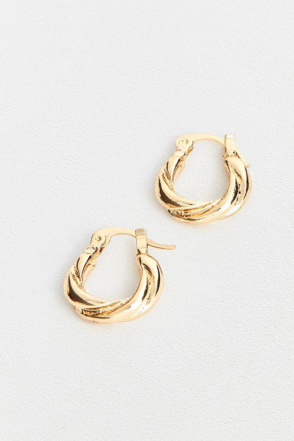 Vintage Style Twist Hoop Earrings