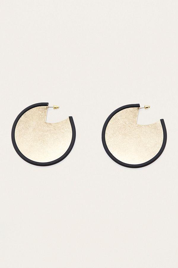 Hammered Pipe Disc Earrings