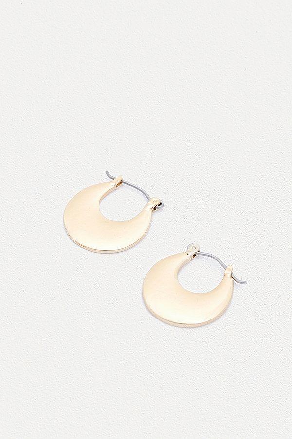 Slide View 1 Flat Filled Hoop Earrings