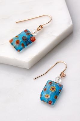 UO - Boucles d'oreilles en céramique à motif floral - Urban Outfitters - Modalova