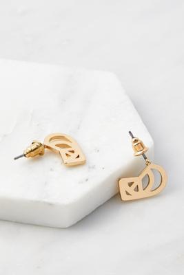 Boucles d'oreilles Peace en forme de caur découpé - Urban Outfitters - Modalova