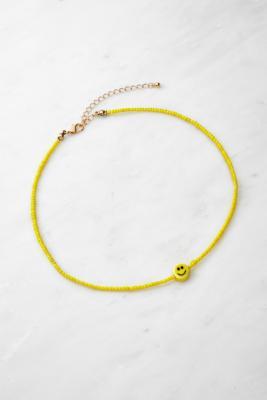 Collier ras de cou à perle smiley - Urban Outfitters - Modalova