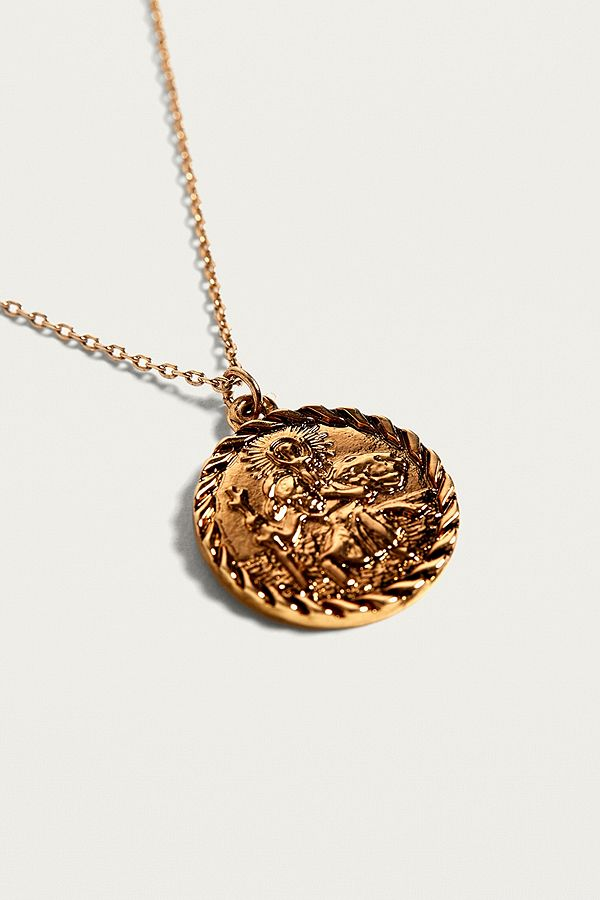 St christopher pendant necklace urban outfitters slide view 1 st christopher pendant necklace aloadofball Gallery
