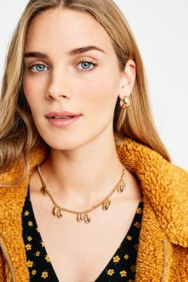 Multi Shell Gold Chain Necklace by Urban Outfitters