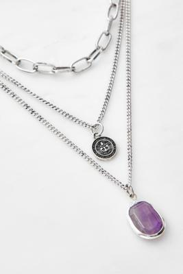 Boho Chunky Multi-Layer Necklace - Silver ALL at Urban Outfitters