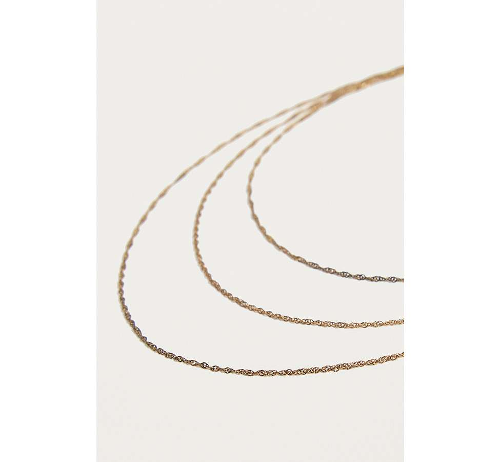Slide View: 4: Vintage Inspired Delicate Rope Chain Layered Necklace