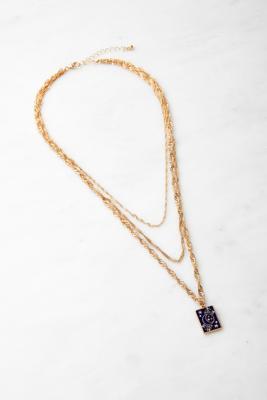 Collier avec pendentif lune et étoiles doré - Urban Outfitters - Modalova