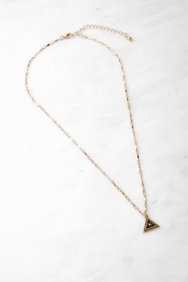 Collier doré à pendentif triangulaire - Urban Outfitters - Modalova