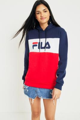 Fila - FILA Cara Colour-Block Logo Hoodie, Assorted