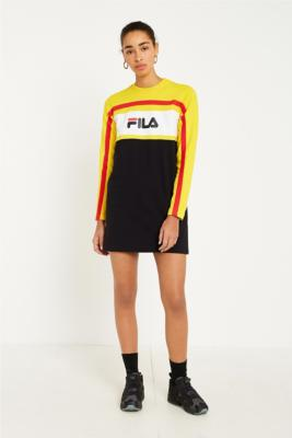Fila - FILA Belle Logo Long Sleeve Dress, Black
