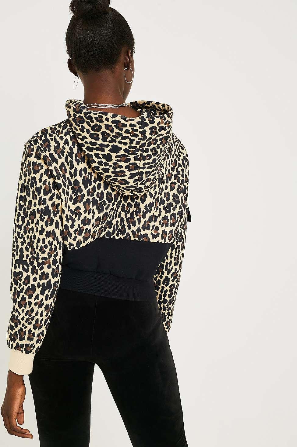 Fila Leopard Print Crop Hoodie by Fila