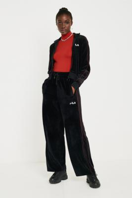 Fila Poppy Velour Wide Leg Track Pants by Fila