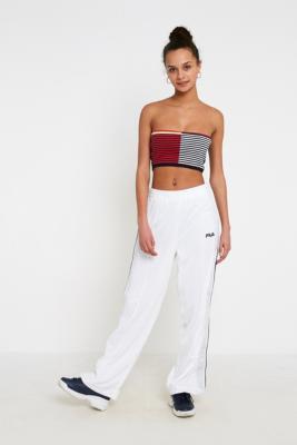 Fila - FILA Neka Popper Flare Track Pants, white