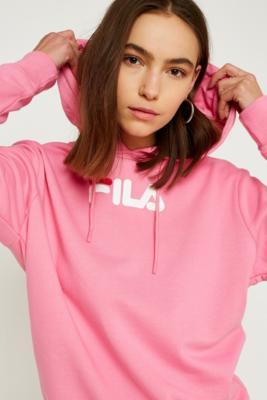 Fila - FILA Raquelle Pink Logo Hoodie, Pink