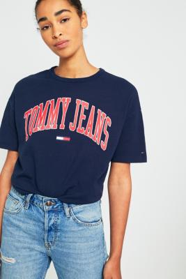 Tommy Jeans - Tommy Jeans Collegiate Navy Logo T-Shirt, Navy