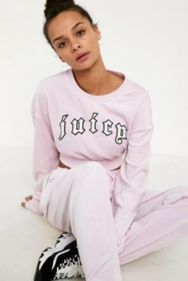 Juicy Couture - Juicy Couture X VFILES Pink Velour Crew Neck Sweatshirt, pink